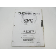 988237 OMC Stern Drive Prelim Parts Catalog 5.0L 5.7L 1998 502BPBY 572BPBY