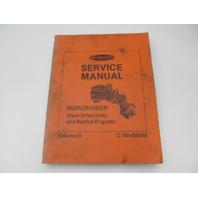 90-68648 70s Mercury Mercruiser Stern Drive & Marine Engine Service Manual Volume 2