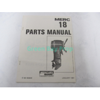 90-90649 1981 Parts Catalog Manual for Mercury Merc 18 Outboards