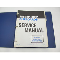90-92229 1980 Mercury Electric Outboard Service Repair Manual