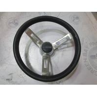 """1987 Rinker V170 Boat Steering Wheel 12 1/4""""Stainless Steel 3 Spoke"""