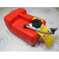8M0060610 Plastic Marine Boat Red Remote Portable Gas Tank 3 Gallons Quicksilver