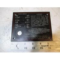 1989 Bayliner Capri Emergency Shutdown Switch Dash Panel
