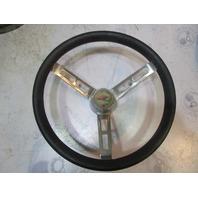"""Vintage Boat Stainless Steel 14"""" Steering Wheel 3 Spoke Standard Tapered Shaft"""