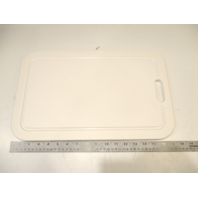 "Voyager Marine Boat RV Kitchen Cutting Board White Poly 17 1/2"" x 11"""