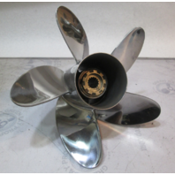 """48-815746A45  High Five Blade Stainless Prop 24 Pitch 40-140hp 4 1/4"""" Gear Case"""