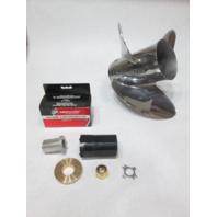48-898998A46 Mercury Enertia Stainless Prop 14X19P RH W/835257K1 Hub Kit