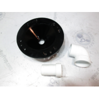 Sealand Vacuflush Toilet Funnel, Elbow, And Adapter