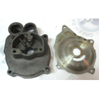 381436 Johnson Evinrude Outboard 75HP Water Pump Impeller Housing & Plate 1960's