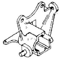12803 Mercury Mariner 6-25 HP Outboard Idle Primer Bracket