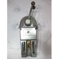 Vintage Morse Dual Lever Chrome Binacle Top Mount Remote Control Box