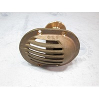 "SEF Marine 1"" Bronze Thru-Hull Scoop Water Intake Strainer w/Nut"