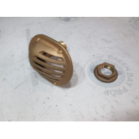 "Marine 3/4"" Bronze Thru-Hull Scoop Water Intake Strainer W/Nut"