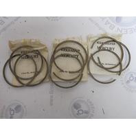 39-33945A12 Mercury Merc 65-100 HP .015 OS Piston Ring Set of 9