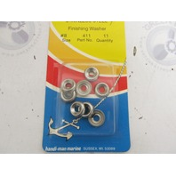 411 Handi-Man Marine Stainless Steel #8 Finishing Washer Pkg of 11