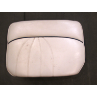 1998 Sea Ray Signature 230 Boat Port Left Rear Seat Cushion White & Blue Piping