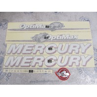 37-891814A09 Fits Mercury Optimax 125 DFI 1.5L Outboard Top Cowl Decal Set