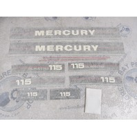 37-12832A87 Fits Mercury 115 HP Outboard Cowl Black Decal Set NLA