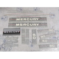 37-43538A87 Mercury 50 HP Outboard Cowl Black Decal Set NLA