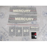37-12836A89 Mercury 6-9.9 HP Outboard Cowl Black Decal Set Design I