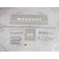 37-13053A86 Mercury 9.8 HP Outboard Cowl Silver Decal Set NLA