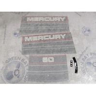 37-811212A94 Fits Mercury 60 Black Outboard Cowl Decal Set NOS