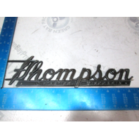 Thompson Boat of Peshtigo Wisconsin Plaques Emblem 1960's Era