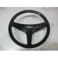 "1971 Thompson Marine Boat Black Plastic Steering Wheel 14"" Tapered Shaft"