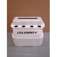 1995 Celebrity 180 Boat White/Green Fiberglass Engine Cover