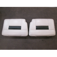 "1995 Celebrity 180 White/Green Boat Stern Rear Jump Seats 23 1/8"" x 14 1/4"" Set"