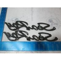 """Sea Ray Script Boat Emblem Plaque Set Plastic 12 3/4"""" Long"""