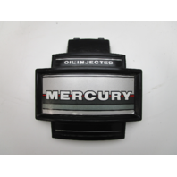 """Mercury Mariner 2 Cylinder Outboard  Black Silver Front Cowl Cover 8"""" x 7 1/4"""""""