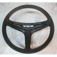 "Regal Mercury Ride Guide Boat Steering Wheel Square Shaft 14.25"" Black Plastic"