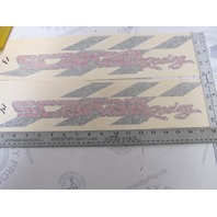 Red & Black Scarab Racing Boat Decal Set of 2