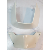 390131 323800 Evinrude Johnson White Front & Rear Midsection Covers V4