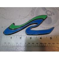 """Sea Ray Logo Emblem Plaque Plastic 5 5/16"""" X 2 5/16"""""""