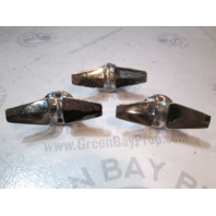 Thompson Boat Cleats Rope Tie Downs Chrome Set of Three 1960's