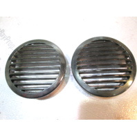 "Bayliner Boat 4 5/8"" Chrome Plastic Bilge Vent Covers Set of Two"