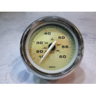 "Bayliner Boat Speedometer Gauge 10-60 MPH 3 3/4""Gold/Chrome"