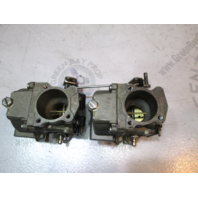 0435378 Evinrude Johnson Upper and Lower Carburetor Set 40, 50 Hp Outboard