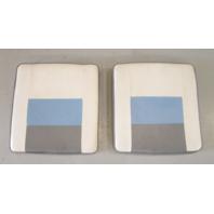 Interior Rear Jump Seat Butt Cushions 1989 Four Winns Freedom 190 Blue Grey
