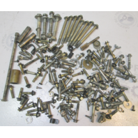 1990's Mercury 75 Hp 3 Cyl Outboard Nuts Bolts Screws Washer Hardware Collection
