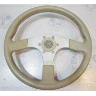2005 Glastron GS 219 DINO Tan 3 Spoke Marine Boat Steering Wheel  13.5""