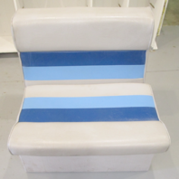 "1983 Concord 20' Marine Boat Blue/Grey Bench Chair Seat 27"" H x 27"" W x 22"" D"