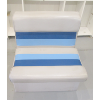 "1983 Concord 20' Marine Boat Blue Grey Bench Chair Seat 27"" H x 27"" W x 22"" D"