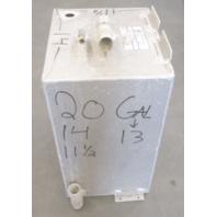 "Aluminum Boat Gas Tank 13 Gallon Marine Fuel Cell 20"" x 14 x 11 1/2"""