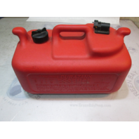 175981 Evinrude Johnson Plastic Red Remote Portable Marine Gas Tank 6 Gallons
