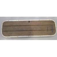 "Boat Marine Hinged Floor Deck Ski Hatch Cover Teak Aluminum Frame 43 1/2"" Long"