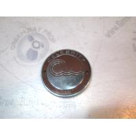 """3 5/8"""" Celebrity Boat Metal Red & Chrome Emblem Logo Name Plate"""