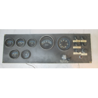 "Vintage 1970's Cruisers Boat Marine Gauge Dash Panel Key Switch 21 3/4"" x 7 1/4"""